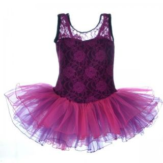 Girls Party Costume Ballet Tutu Dance Dress 3 8Y Kids Leotard Toddler Show New