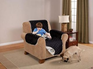 Reversible Diamond Quilt Black Floral Pet Kids Chair Furniture Protector