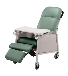 Lumex 574G Three 3 Position Recliner Geri Chair Jade