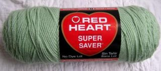 Red Heart Super Saver Yarn 0668 Honeydew Baby Green 7 oz Skein Worsted Acrylic