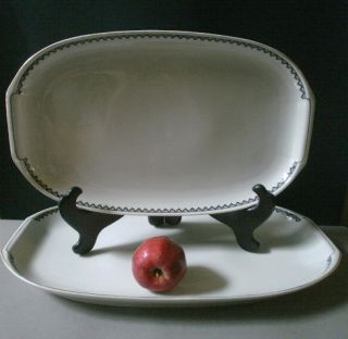 Art Deco Epiag Czech Porcelain Dinnerware 6 Serving Pieces REDUCED Price