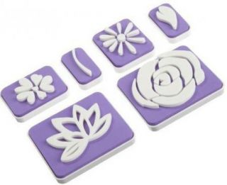 Wilton 6pc Flower Cake Cookie Stamp Set New