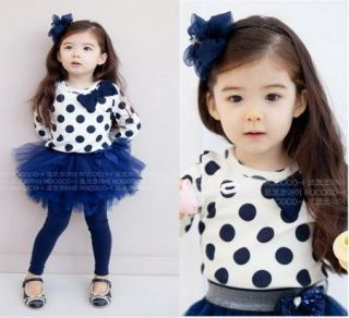 Baby Toddler Girl Kids Clothes 2 Piece Set Dress Top Leggings Skirt S0 5Y Outfit