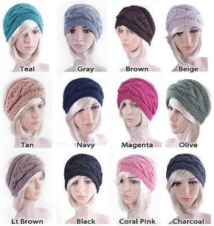 Warm Winter Hat Wool Braid Knitted Headband for Ladies Women Girls Ski Earmuff