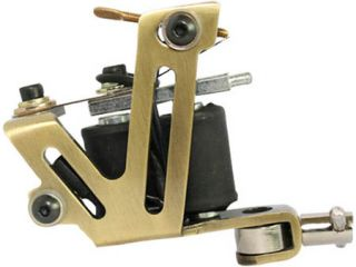 Stainless Steel Tattoo Machine Gun Pro 10 Wrap Liner Shader US Seller TM C007B