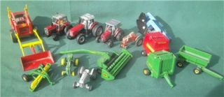 Lot 13 Ertl Massey Melroe John Deere Farm Tractors Equipment Hay 1 64 Scale Toys