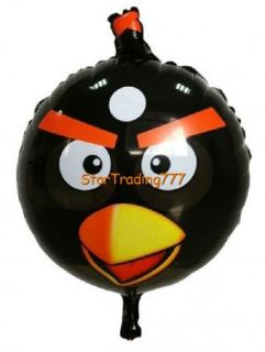 Black Angry Bird Happy Birthday Party Balloon 22""
