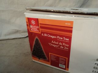 Holiday Home Accents 6 5 ft Oregon Pine Christmas Tree 450 Mini Lights 233 045