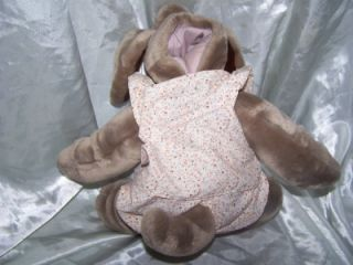 "Vintage Ganzbros Wrinkles 17"" Puppy Dog 1981 Puppet Plush Stuffed Animal"
