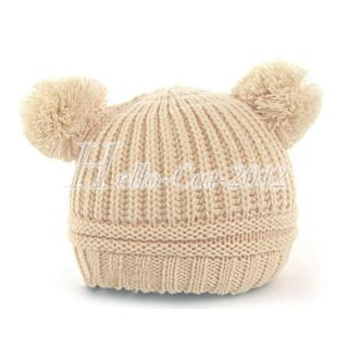 Fashion Sweet Lovely Baby Kid Girl Toddler Woolen Knitted Crochet Beanie Hat Cap
