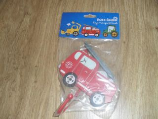 Sass Belle Child's Bedroom Nursery Clothes Vehicle Hook Engine Tractor Digger