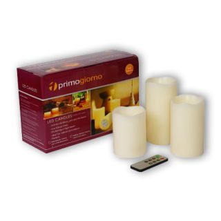 Battery Operated Flameless LED Candle Light w Remote Control 3pcs per Set