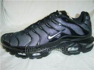 New Genuine Nike Air Max Plus Tuned 1 TN Air Mens Womens Trainers Black Silver