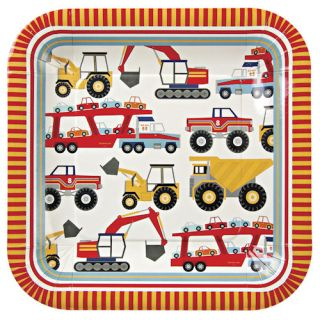 Big Rig Construction Trucks Childrens Kids Birthday Party Decorations 12 Plates