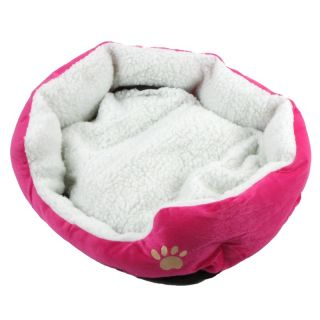Comfortable Soft Fleece Pet Dog Puppy Cat Bed House Plush Nest Mat Pad Rose