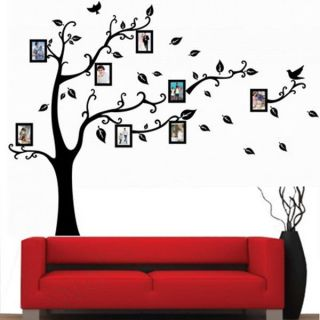 Home Decor Virtul Photo Frame Black Tree Removable Decal Room Wall Sticker Hot