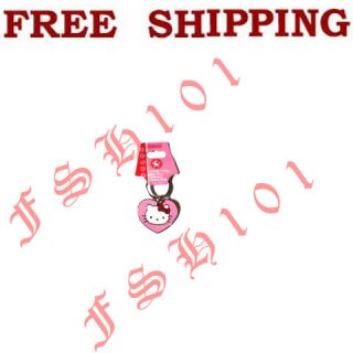 Brand New Cartoon Sanrio Hello Kitty Pink Heart Key Chain