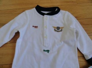 Polo Ralph Lauren Baby Infant Boy Boys Jersey Romper Airplanes Outfit 6M