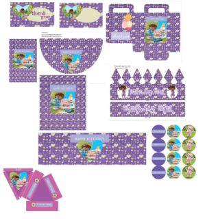 Doc McStuffins DIY Printable Party Set Candy Wrappers Favor Bags More