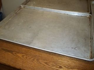 Full Size Aluminum Baking Sheet Tray Cookie Lot of 3