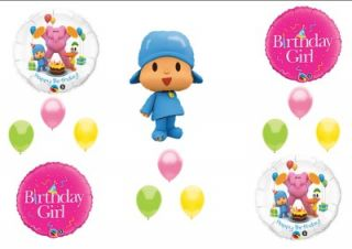 Pocoyo Friends Girl Happy Birthday Party Balloons Decorations Supplies