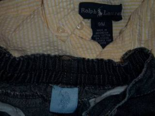 Baby Boy 6 9M Easter Ralph Lauren Summer Clothes Lot Shirt Jean Short 6 9 Month