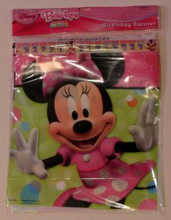 Disney Minnie Mouse Happy Birthday Party Decoration Banner Hallmark BNR