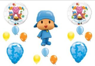 Pocoyo Friends Happy Birthday Party Balloons Decorations Supplies 14 Pcs New