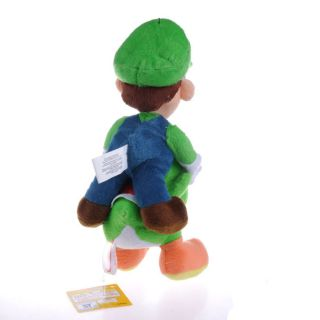 "Super Mario Bros Luigi Riding Yoshi Green 10"" Plush Doll"