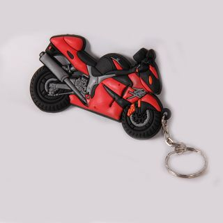 Motorcycle Style Key Ring Hayabusa Bike Design AAA Rubber Mini motorbike 90mm