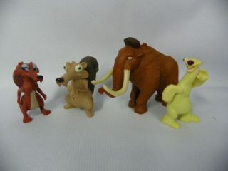 Ice Age Cake Topper Toys Lot of 4 B64U2468
