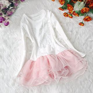Girls Outfit Jacket Top Seller Dress Kids Party Pageant Pearl Flower Clothes h