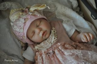 Rose Biscotti French Lace Dress Hat 4 Reborn Baby Doll