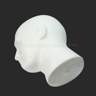Male Styrofoam Foam Mannequin Manikin Head Model Display Hat Wig Headset White