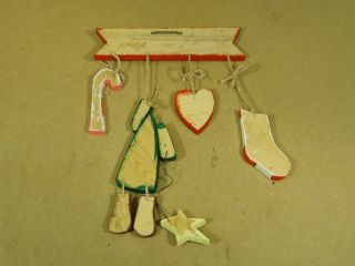 Standard Christmas Hanging Wall Décor 13in x 18in Red White Green Wood