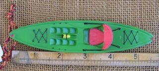 Green Sit on Top Kayak Boat Christmas Ornament