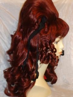 Auburn Red Sixties Vamp Beehive Big Hair Halloween Costume Wig 60's Drag Queen