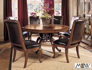 Mahogany 5 ft Round Pedestal Dining Table