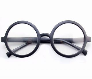 Harry Potter Round Matte Black Glasses Fancy Dress Costume Accessory