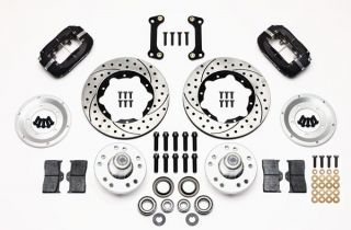 "Wilwood Disc Brake Kit Front 82 92 Camaro 11"" Drilled Rotors Black Calipers"