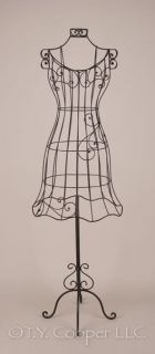 "Wrought Iron Metal 60"" Tall Dress Form Mannequin 91811"