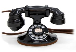 Vintage Restored Art Deco Western Electric 202 Desk Telephone Phone