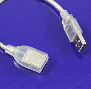 Short USB 2 0 A A Male to Female Extension Cable Cord
