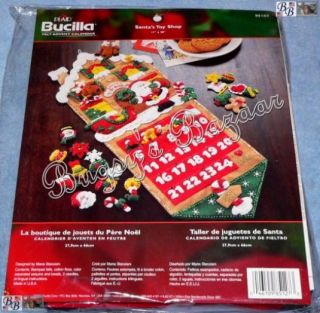 Bucilla Santa's Toy Shop Felt Advent Calendar Christmas Kit