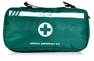 Empty Medical Emergency Kit First Aid Bag with Compartments Green