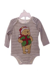Disney Baby Infant Girl Boys Winnie The Pooh Christmas Shirt NB 3 6 9 Months New