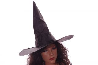 Womens Witch Hat Halloween Costume Accessory Black Orange Web Pink Skull New