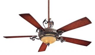 "Minka Aire Napoli 56"" Ceiling Fan Model F705 STW in Sterling Walnut with Ster…"