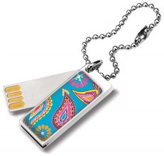 Glam Paisley 2GB Memory Card USB Flash Drive w Crystals