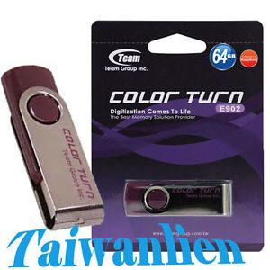Team 64GB 64G Color Turn USB Flash Pen Drive Memory Stick